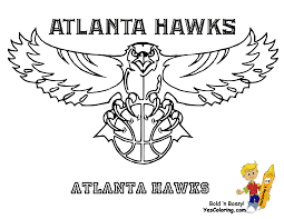 georgia pro sports coloring day atlanta hawks see u0027n crayon