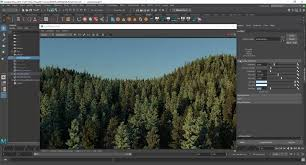 how to create and render 620 million poly forest in maya cg tutorial