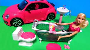 barbie corvette vintage pink barbie volkswagen beetle bug car u0026 dream bathroom toilet