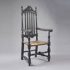 Early American Rocking Chair 18th C New England Bannister Back A Late 17th Century English Or