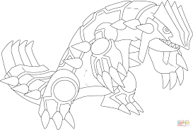 groudon pokemon coloring page free printable coloring pages