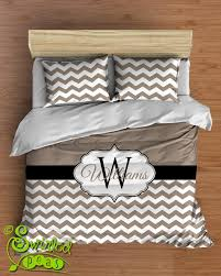 comforter or duvet bed set chevron personalized with name and