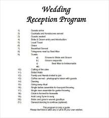 free templates for wedding programs wedding reception templates wedding program template 61 free word