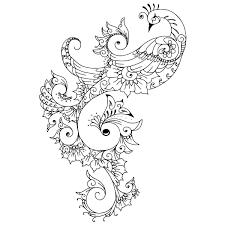 gorgeous ornate tribal peacock design tattooimages biz