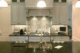 kitchen style ceramic tile backsplash stainless steel gas range