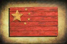 handmade distressed wooden chinese flag vintage art distressed