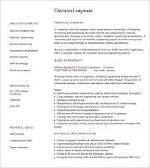 Electrical Engineering Resume Examples Professional Cv Electrical Engineer