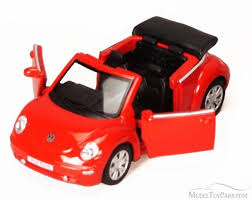 volkswagen beetle red 2003 volkswagen beetle convertible red kinsmart 5073d 1 32