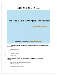 hrm 531 final exam latest uop course assignments human resource