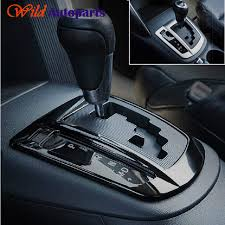 glossy black pearl chrome silver inner gear shift knob panel