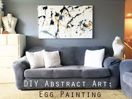 diy abstract wall art egg painting for home decor lip stain and