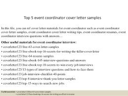 Event Coordinator Resume Sample by Top 5 Event Coordinator Cover Letter Samples 1 638 Jpg Cb U003d1434596471