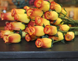 yellow roses with tips yellow tip etsy