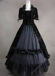 Ghost Halloween Costume Fair Gothic Black Dark Queen Gown Dress Witch Ghost Halloween Costume