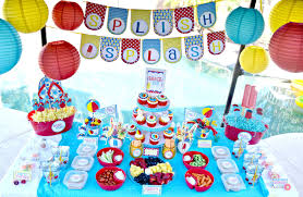 backyard pool party food and decorations pamperspinparty