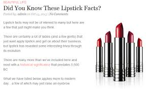 interesting facts about lipstick aveda institute aveda