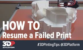 3d printing tech tips how to resume a failed 3d print youtube