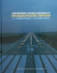 contemporary business mathematics with canadian applications s a
