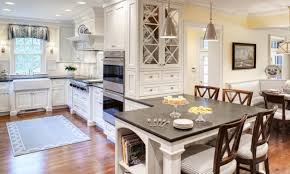 cape cod style kitchen minimalist polished granite countertop