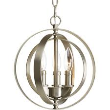 Sphere Ceiling Light Progress Lighting Equinox Collection 3 Light Antique Bronze Orb