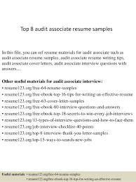 Sample Of An Effective Resume by Top 8 Audit Associate Resume Samples 1 638 Jpg Cb U003d1428557171