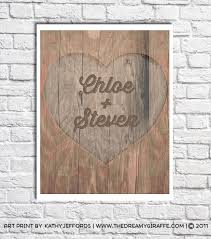 customized anniversary gifts personalized couples name heart carved in tree picture