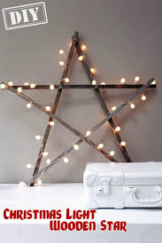 Diy Christmas Lights by Diy Christmas Light Wooden Star U2013 Top Easy Interior Design For