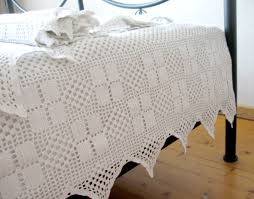 Lace Trim Curtains Curtain Handmade Crochet Lace Trim Unique Curtains White Il
