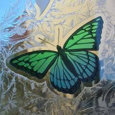 butterflies etched carved u0026 painted in glass windows sans