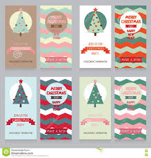 collection of cute banners for christmas party in retro palette
