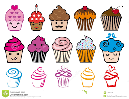 Cute Cup Designs Cute Cupcake Designs Vector Set Stock Photo Image 27017320