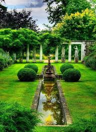 formal garden with statues and pillars formalgarden
