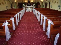 catholic church wedding decoration ideas elegant church wedding