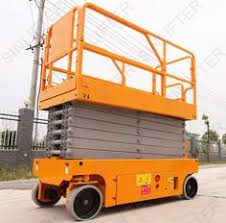 used electric lift table hydraulic lift table here is with 10m platform height moved by