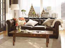 Tufted Brown Leather Sofa Decorative Pottery Barn Tufted Leather Sofa 4 Audioequipos