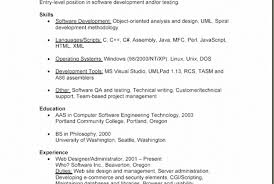 entry level java developer resume sample elegant gallery of technical resume format doc business cards