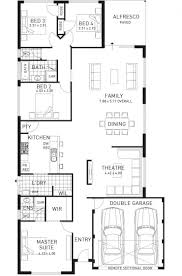 Narrow Lot 2 Story House Plans Single Storey Floor Plans Universalcouncil Info