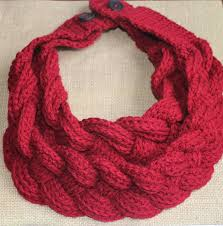 braided scarf crochet braided cowl crocheted braided scarf with