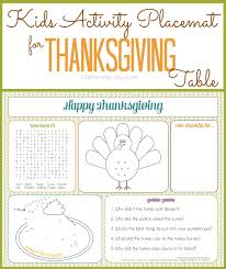 thanksgiving activity for thanksgiving activity placemat