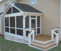 a small extension off this screened porch contains a captured