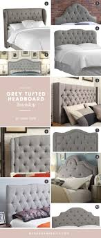 Quilted Headboard Bed Bed Light Grey Headboard Grey Headboard Tufted Headboard