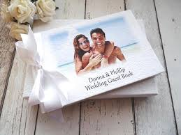 personalised wedding guest book personalised photo guest books