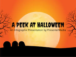 peek at halloween a powerpoint template from presentermedia com