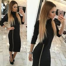 online get cheap full length zipper dress aliexpress com