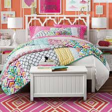Pb Teen Bedrooms Pb Teen Palm Springs Patchwork Quilt Multi Twin At Pottery Barn