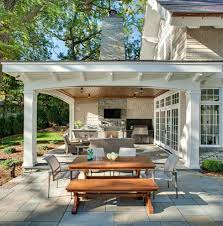 covered outdoor kitchen plans patio traditional with shelter
