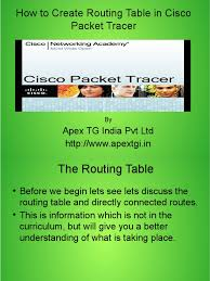 what is routing table how to create routing table in cisco packet tracer pdf ip address