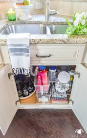 Under Kitchen Cabinet Storage Ideas Best 25 Kitchen Sink Organization Ideas On Pinterest Kitchen