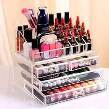 Box Makeup cosmetic organizer drawers clear acrylic jewellery box makeup