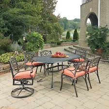 Hampton Bay Corranade 5 Piece - hampton bay lemon grove 7 piece wicker outdoor dining set with
